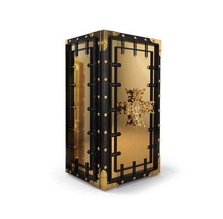 Inspired by Fort Knox, the Knox Safe by Boca do Lobo acts as an inviolable barrier between the world and your most valuable treasures. www.bocadolobo.com