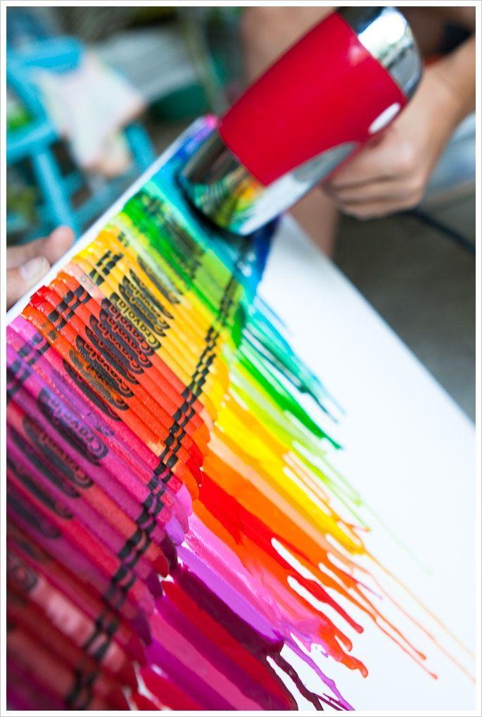 Idée leçon avec pastels!