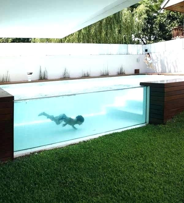 Above Ground Concrete Pool Above Ground Small Backyard Design Small Backyard Pools Backyard Design