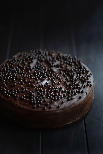 Celebration Chocolate Cake - woah, 10 eggs in this cake. Definitely something I would make as a rare treat.