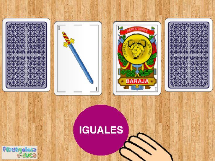 ABN – CONTAR: GRAFIA – CANTIDAD – Consigue parejas de cartas con el mismo número (1-5) – Este juego trabaja la correspondencia grafía-cantidad. El jugador/a debe emparejar cartas que tengan el mismo número.