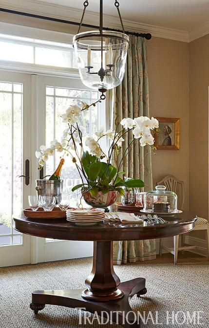 Foyer - Red Cross Designer Showhouse 2013 - Stephen Mooney design, antique rosewood table is a serving station for guests