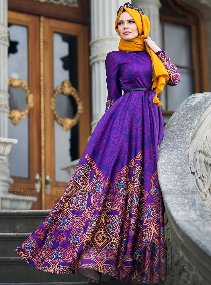 Silkway Abiye - Mor - Muslima Wear
