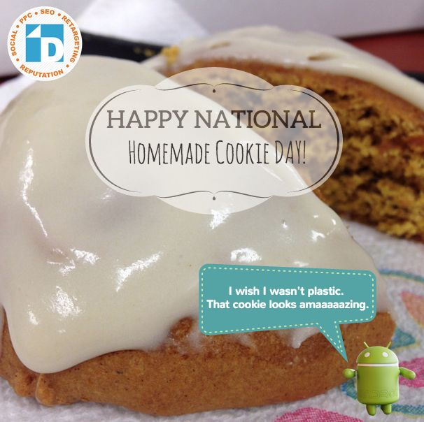Happy #nationalhomemadecookieday! :)  Today we enjoyed some #pumpkincookies with walnuts. Sorry Andy, cookies are for humans.
