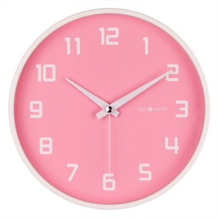 $20 Amazon.com: DecoMates Non-Ticking Silent Wall Clock - Fruity Watermelon (Pink): Furniture & Decor