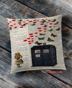 Alice in Tardis Dr Who pillow case, Custom Pillow case, Square Rectangle pillows case