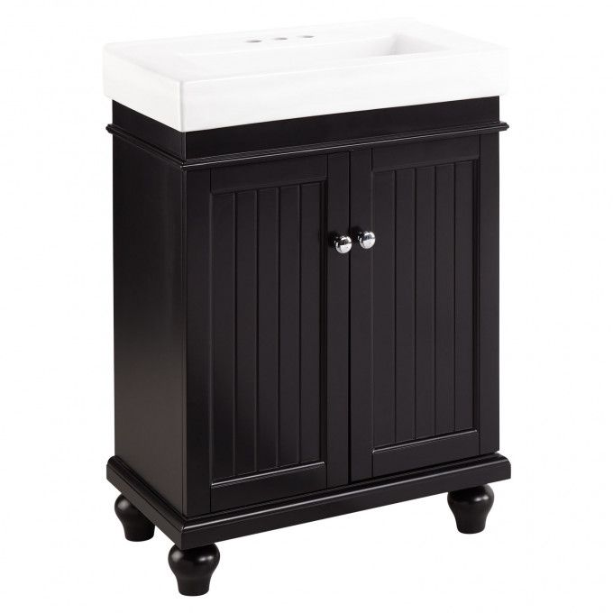 24 Lander Vanity Cabinet Black Vanity Vanity Cabinet Bathroom Furniture