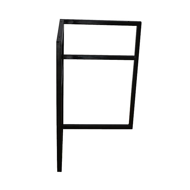 Alésia Tréteau de bureau universel en métal noir pour plateau