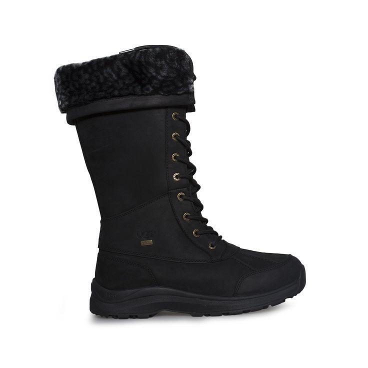 UGG Adirondack Tall III Leopard Black Boots