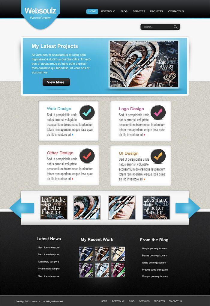 Создаем стильный дизайн для портфолио в Фотошоп