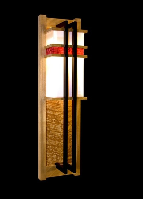 Frank Lloyd Wright inspired lighting - One by Los Osos Woodworking