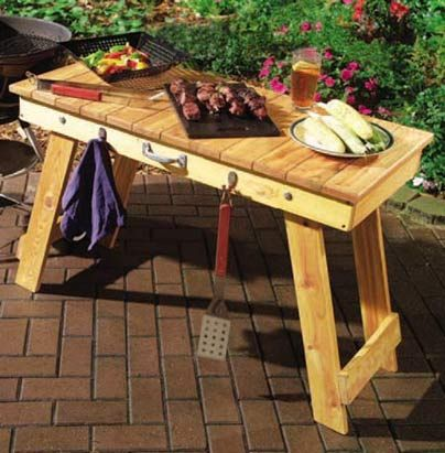 DIY Foldable BBQ Table I Think I Could Even Get A Lot Of The Lumber For