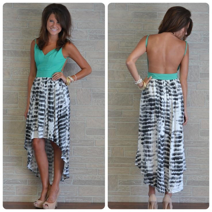 .Backless Shirt, Summer Dresses, High Low Dresses, Backless Dresses, Cruises Wear, Beautiful, Beach Clothing, Open Back, Dreams Closets