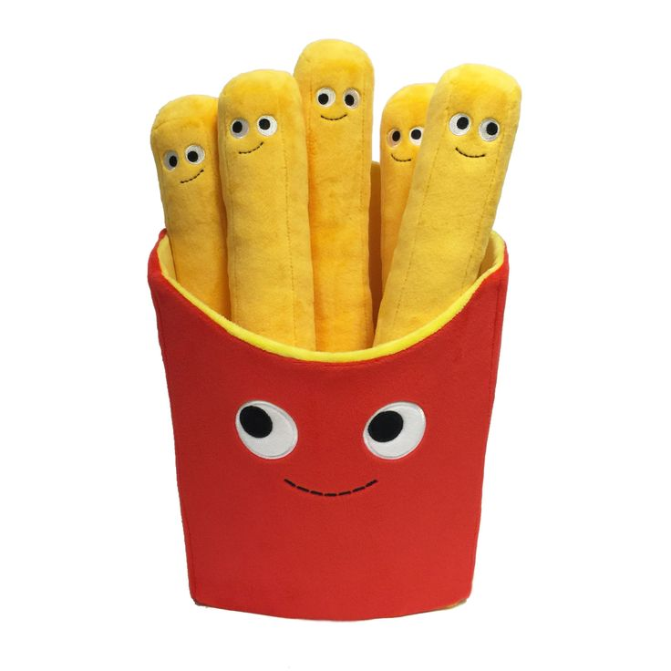 What would this world be without French Fries? It would be boring that's what! This tasty looking box of fries has a name and it's Frankie Fries. Frankie Fries is a large 16-inch super soft plush. No