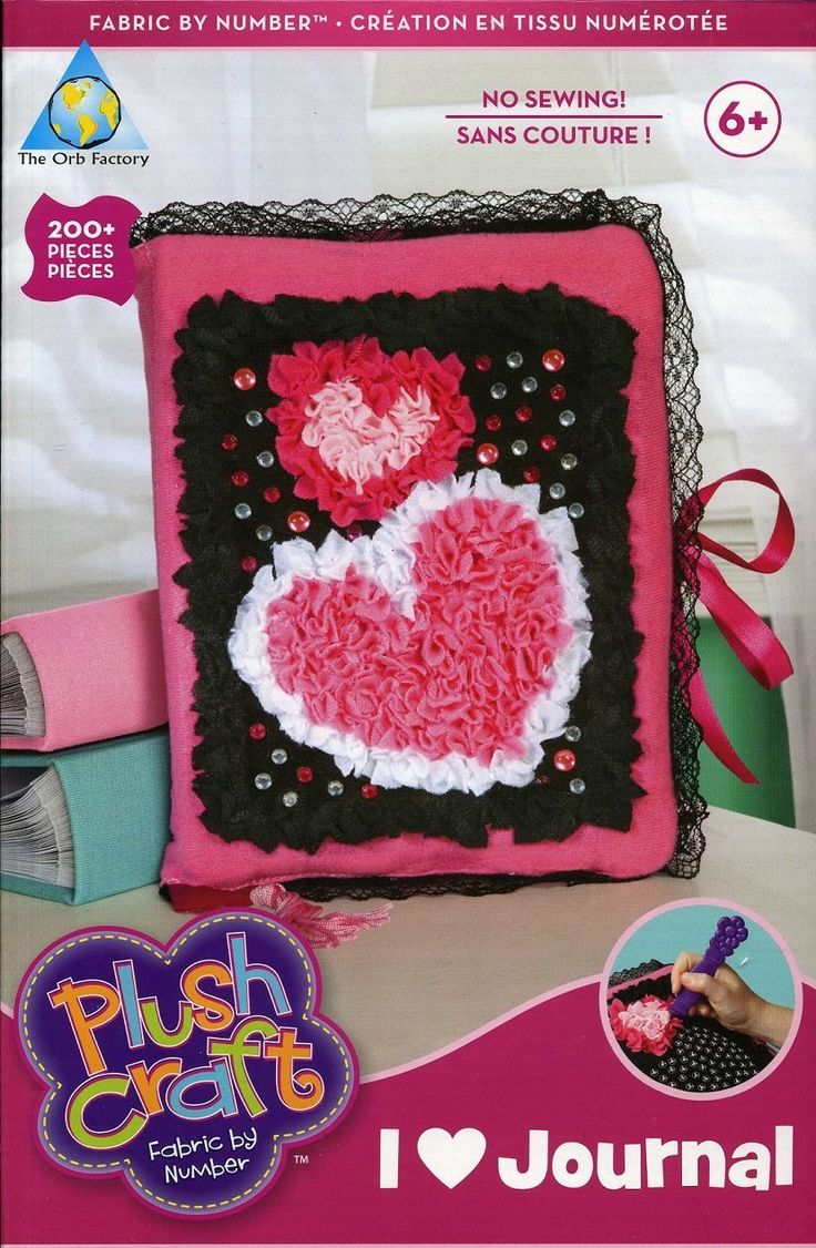 Craft kits for 4 year olds - 4 Year Olds Plush Craft Fabric By Number Kit I Love Journal Has 200 Pieces