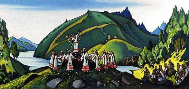 Rite of Spring scenery by Nicholas Roerich.