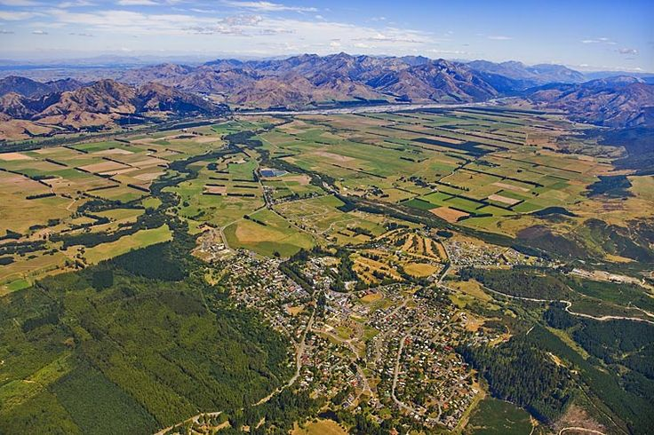 Hanmer Springs from above,  see more at New Zealand Journeys app for iPad www.gopix.co.nz