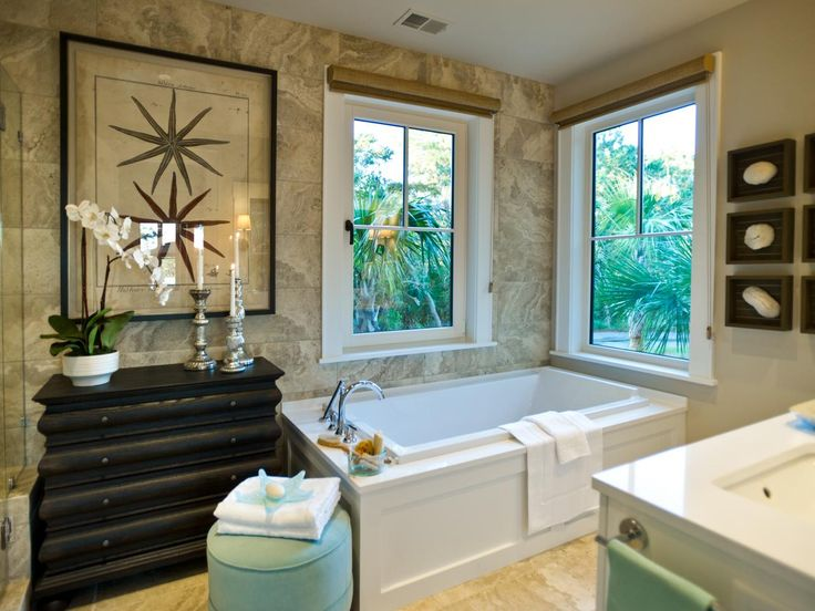 Picture Gallery For Website HGTV Dream Home Master Suite Bathroom Pictures on HGTV travertine style porcelain tile floor