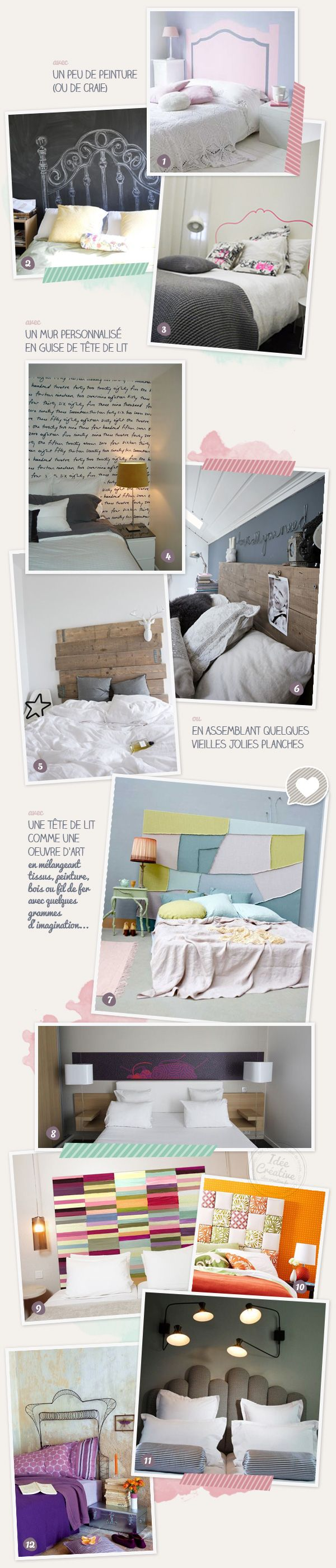 12 idées créatives originales pour créer une tête de lit personnalisée