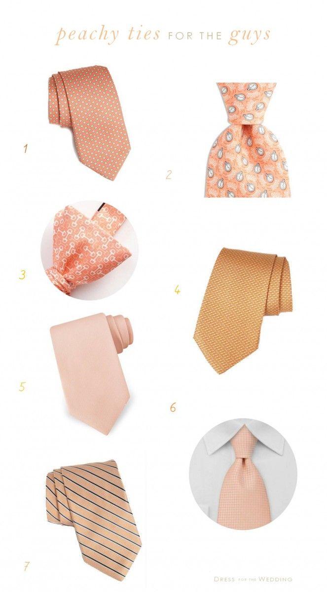 Peach Ties  For Grooms and Groomsmen