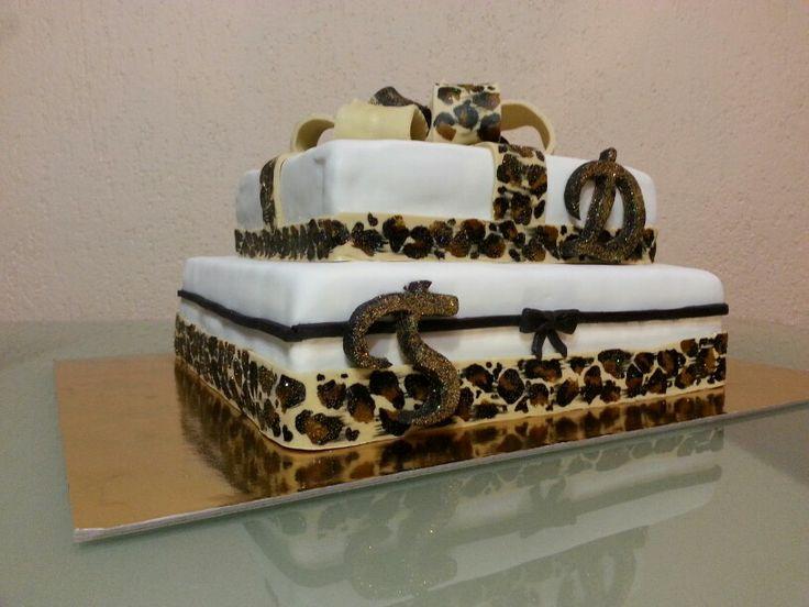 Cake#birthday#leopard#print#chocolate#vanilla#Czech#miss.enemy