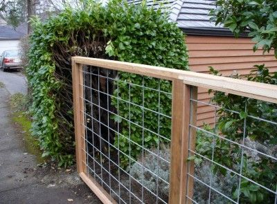 Wire Mesh Amp Wood Frame Fence Galvanized Rigid Metal