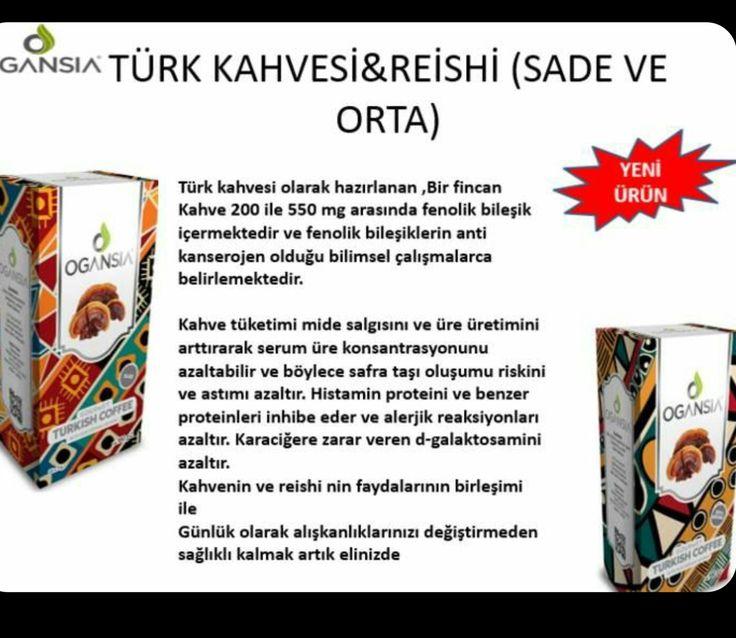 Reishi mantarlı (oranı %2.5) Türk kahvesi ,sade ve orta seçenekleriyle. // Turkish coffee  (reishi rate:%2.5)