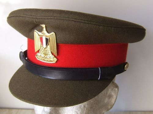 26fd3eadfe803 Egyptian Army officers  service uniform visor cap.