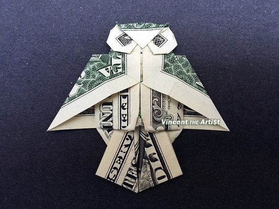▶B Wi$e with thi$ greeting◀OWL Money Origami Dollar Bill Art by VincentOrigamiArtist on Etsy