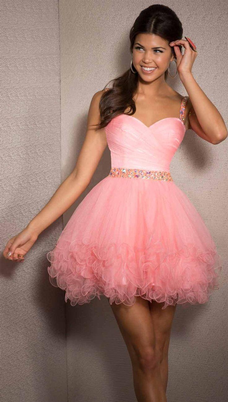 Mejores 103 imágenes de Short Prom Dress en Pinterest | Vestidos de ...