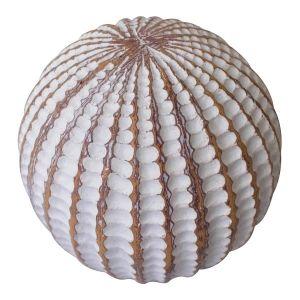 Decorative white sphere, 4''