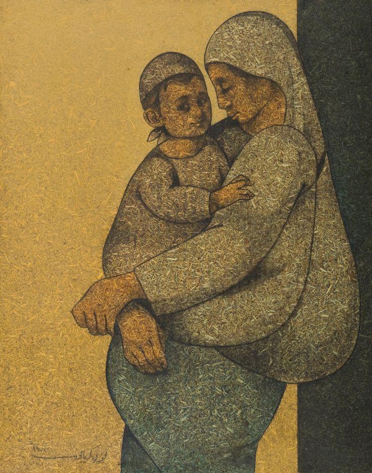 Motherhood By Louay Kayyali, 1973