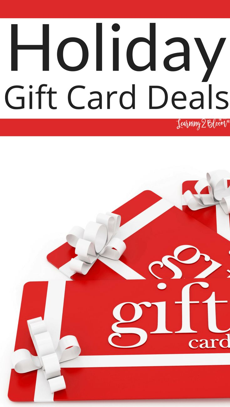 This lady updates these gift card deals each year!..Holiday gift card ideas that are usually offered between September to January each year. This is the perfect gift or the perfect way to save money on gifts that you buy for Christmas or other holidays.