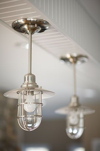 Narragansett, RI - custom nautical kitchen lighting