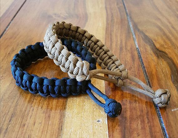 EDC everyday carry Mad Max paracord bracelet Black handmade