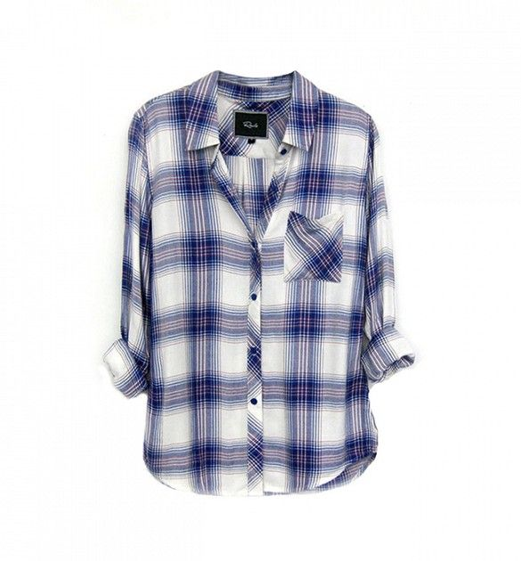 If you didn't think a plaid shirt could be described as pretty, meet this lovely option. // Hunter Button Down Shirt by Rails