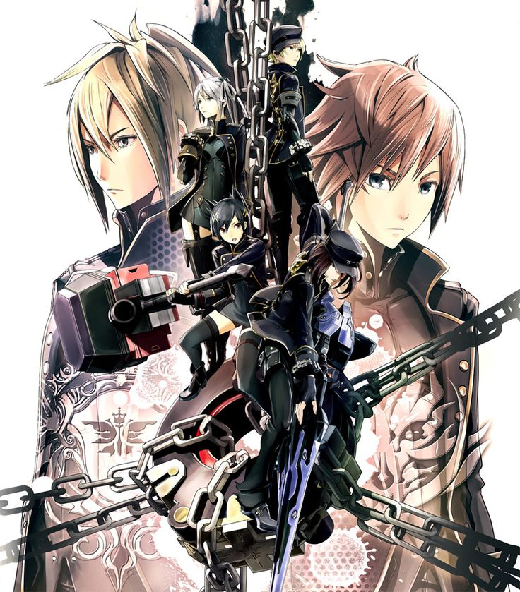 Characters illustration from God Eater 2