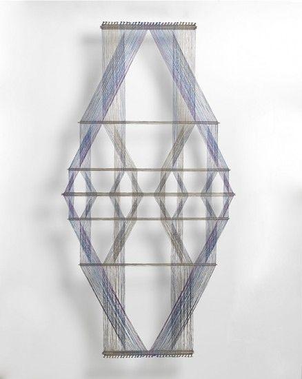 Polychrome Macrogauze Wall Hanging I (M.90, No.23), Peter Collingwood, PC-0004