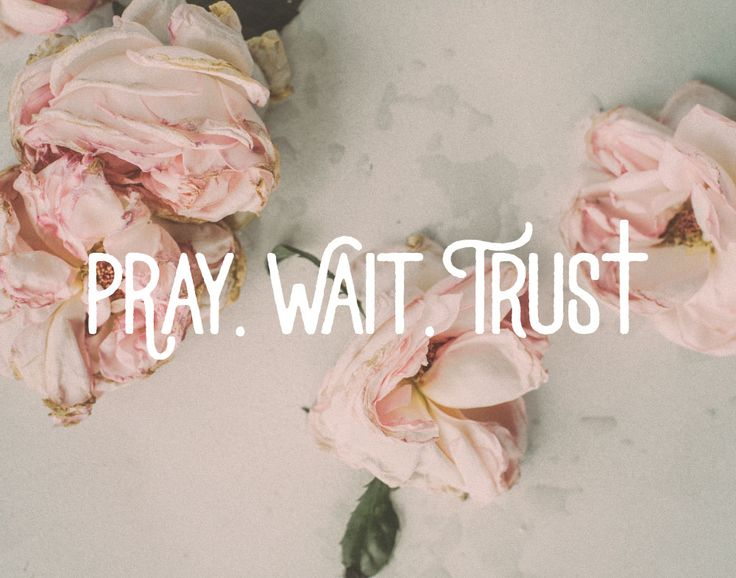 Pray. Wait. Trust.  The first thing we need to do is usually the last thing we do when we're faced with a problem. Pray! That's the first thing we need to do. We need to go to God with it first. Then we wait and trust in Him that He hears our prayers and He will answer us. Let this inspirational print be a reminder of that. #pray #wait #trust