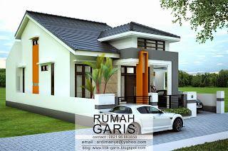 Desain rumah tinggal 2 lantai di lahan 10x15,6 meter di Pattallassang, Kab. Takalar ~ Rumah Garis