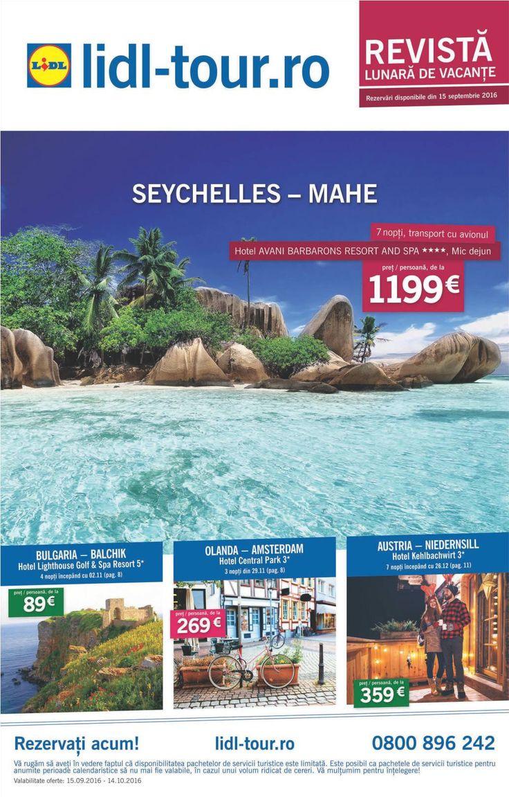 Catalog Lidl Tour 15 Septembrie - 14 Octombrie 2016! Oferte servicii turistice…