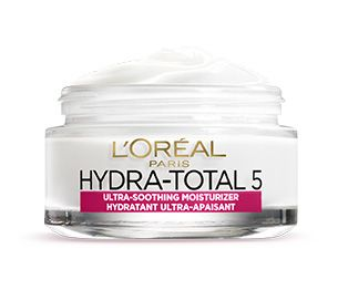 L'Oréal Paris laboratories created Hydra-Total 5 Ultra-Soothing Moisturizer, a unique moisturizing cream with omegas and ceramides that meets five essential skincare needs.5 ACTIONS + RESULTS:1. 24-HOUR MOISTURE: fights dryness for completely hydrated skin.2. SOOTHES: ultra-gentle omega 3 and 6-enriched formula nourishes dry skin immediately.3. REPLENISHES: absorbs quickly, instantly hydrating to relieve dryness.4. SOFTENS: skin feels nourished, more supple and softer to the touch.5…