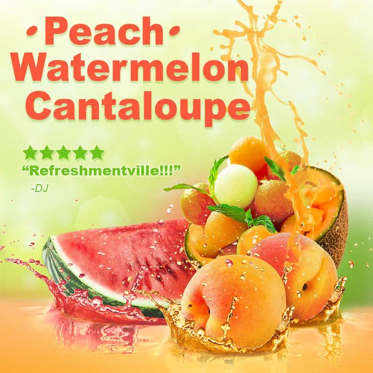 An extremely popular blend, Peach Watermelon Cantaloupe is a sweet and refreshing blend of some of the best fruit flavors out there!  #ecblend #vape #vapers #vapelife #vapenation#vapefam #vaping #vapeon #eliquid #ejuice#cloudchaser #ecig #subohm