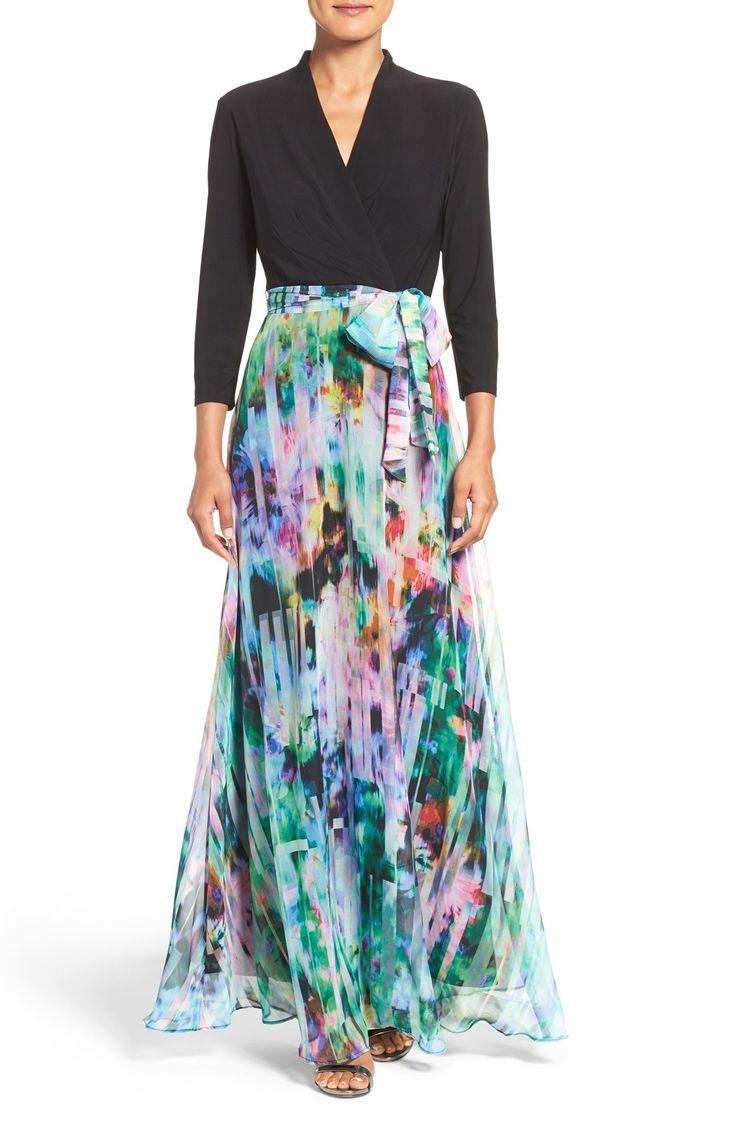Chetta B Mixed Media Maxi Dress available at #Nordstrom