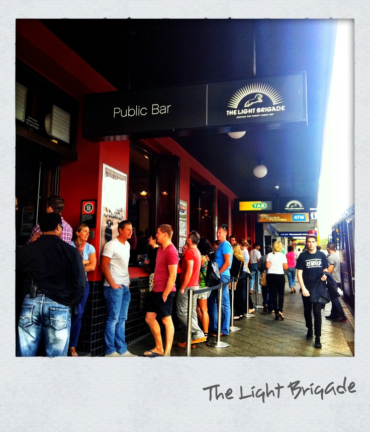 Not even standing room @ the Light Brigade on the AFL finals 2012 night