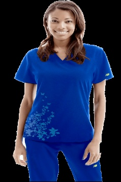 Now in Stock! Royal blue Flutter nursing uniform top by #NewBalance $25.99