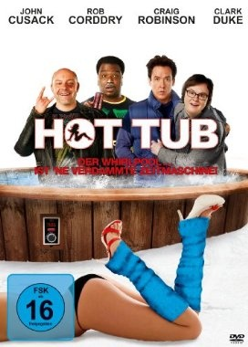 Hot Tub Der Whirlpool ... ist ne verdammte Zeitmaschine  2010 USA      Jetzt bei Amazon Kaufen Jetzt als Blu-ray oder DVD bei Amazon.de bestellen  IMDB Rating 6,5 (86.491)  Darsteller: John Cusack, Clark Duke, Craig Robinson, Rob Corddry, Sebastian Stan,  Genre: Adventure, Comedy, Sci-Fi,  FSK: 16