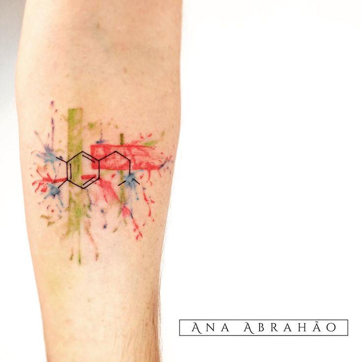 """Ana Abrahão no Instagram: """"Dopamina fazendo efeito em aquarela! Muito obrigada Henrique!! ❤️ """""""