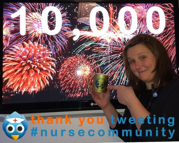 "Add to our ""why nurses tweet"" pinterest board, because 10,000 nurses can't be wrong :)"