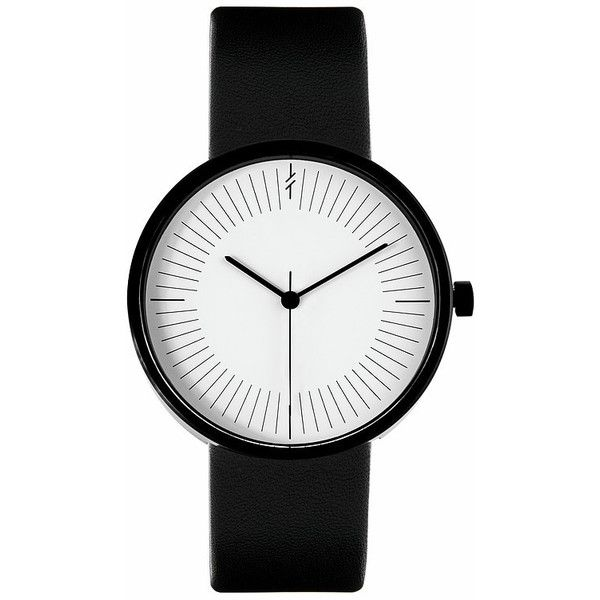 Monochrome Black by Simpl Watch Black&White (635 ILS) ❤ liked on Polyvore featuring jewelry, watches, accessories, bracelets, black, black and white jewelry, black and white watches and black white jewelry